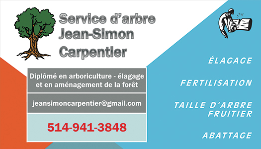 Services d'arbre Jean-Simon Carpentier